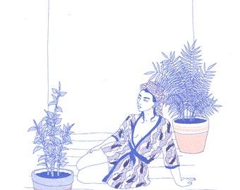 Kimono - riso print (multi)