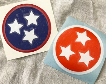 """3"""" Tennessee Tri-Star decal"""