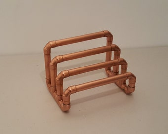 Copper pipe letter rack