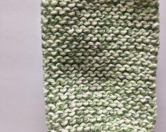 handmade (green&purple} dish cloth