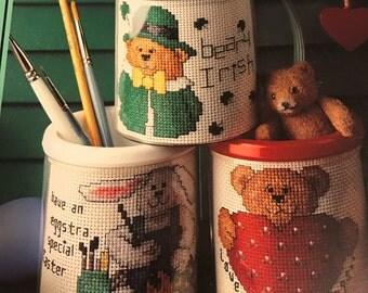 Leisure Arts Mugs to Hugs counted cross stitch Spring 1993 Cross Stitch Lites