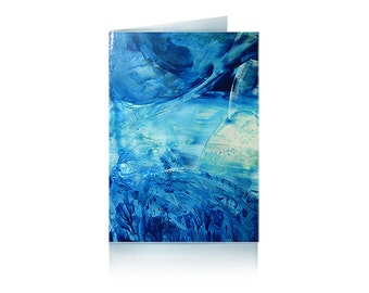 Greeting card blue Galaxy
