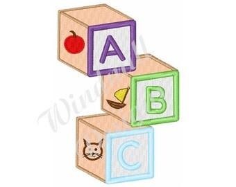 ABC Wood Blocks - machine embroidery design