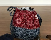 Small Project Knitting Bag- Bandana