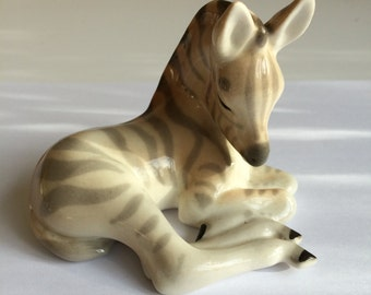 Lomonosov Sitting Zebra figure