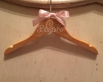 Monogrammed baby hanger