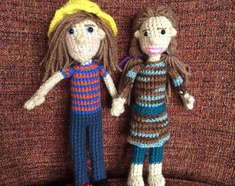 Mid sized custom doll, Nine Inch Personalized Doll, Child sized, bespoke, custom, personalized, look alike doll, personality dolls, waldorf