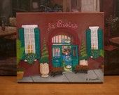 "New Orleans Art // French Quarter Art  // ""Le' Bistro"" // Acrylic // Original One-Of-A-Kind Painting // Signed by Artist"