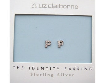 Liz Clairborne 'Letter P' Identitiy Earrings