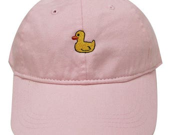 Pink Rubber Duck Ducky Emoji Cotton Dad Hat