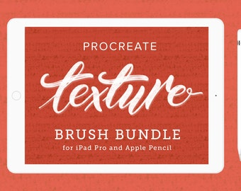 Procreate Lettering Brush Texture Bundle | iPad Lettering | iPad Pro | Typography