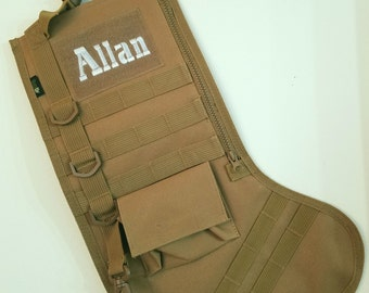 Christmas Stocking July Tactical Personalized stocking