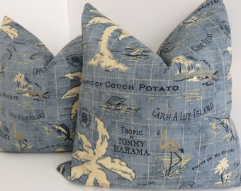 Outdoor/Indoor Pillows- Tommy Bahama Pillow Covers- Outdoor Pillows