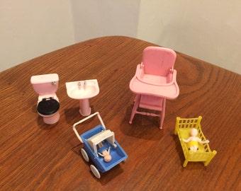 Dolls House Furniture Barton Toilet Sink Kleeware High Chair Pram Cot