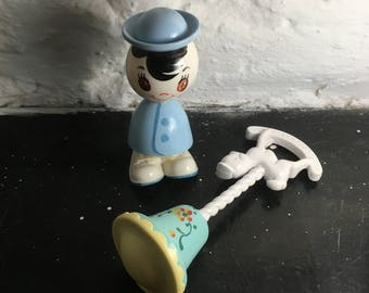 1950s Celluloid Baby Rattles Spunky Plakie