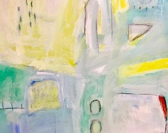 Original Abstract Art on Paper, modern decor, contemporary painting, original art