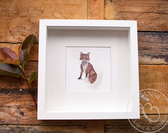 Watercolor Fox Art