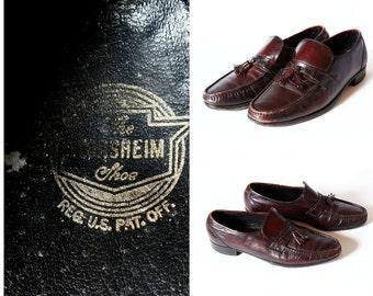 Vintage Men's Florsheim Shoes Loafers Tassle - 70s Retro Vintage Men's 11.5 Dress Shoes