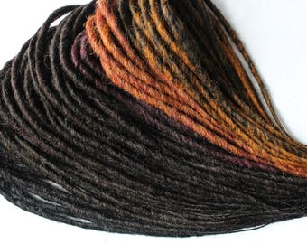 Ready to ship. FULL set of AUTUMN dreads.