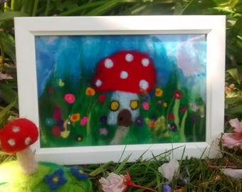Felt toadstool house picture