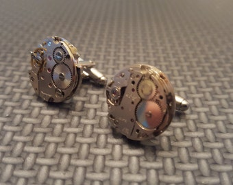 Clockwork Cuff Links Steampunk Vintage Cufflinks Style 1