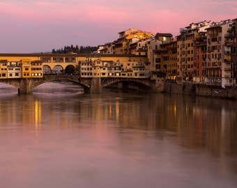 Ponte Vecchio - Florence - Tuscany - Photography - Photo - Sunset - Art - River - Afternoon - Italy