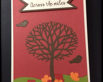 Thanksgiving Card - FALL SPECIAL, Across the Miles Thanksgiving Card, Handmade Thanksgiving Card, Stampin Up Card