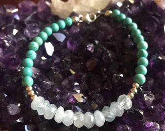 Aquamarine & Turquoise Bracelet