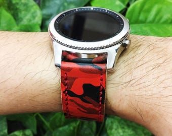 Samsung Gear S3 Frontier , Gear S3 Classic, Gear S2 Classic,Handmade Strap,Hand Stitched,Samsung Gear Band