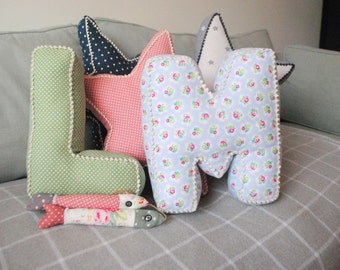 Letter Cushions, personalised cushion, keepsake gift, newborn gift, mothers day gift