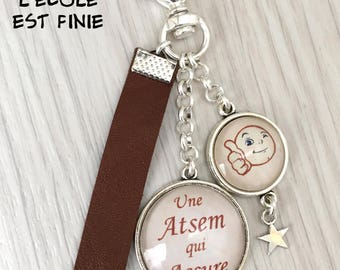 Keychain bag charm has message home gift a home that provides. REF.122