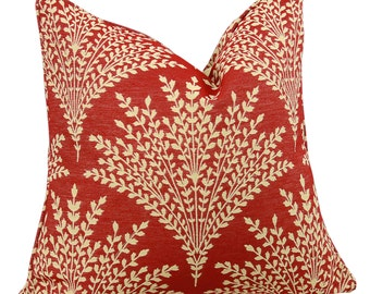 2 Sided Sheaf Scarlet by Stroheim Decorative Lumbar and Pillow 20 Inch