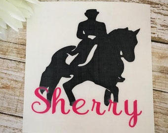Dressage Decal/Horse Decal/Personalized Horse Decal/Yeti Decal/Monogram Horse Decal/RTIC Decal/SIC  Decal/Horse Riding Decal/Equestrian