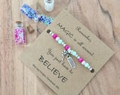 Fairy Gifts Believe Bracelet Tooth Fairy Gift Birthday Gift for Girls Magical Girl Granddaughter Gift Niece Gift Gifts Under 25