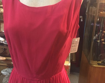 Rich pink Carol Brent 1960s party dress!