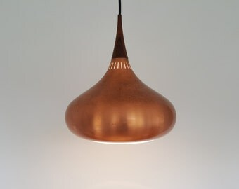 A vintage Jo Hammerborg large copper Orient pendant light for Fog & Morup, 1960s.