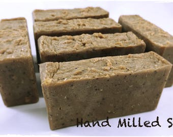 Hand Milled Soap / Coffee / RAW Cocoa Butter / Hot Process Soap / Handmade Soap
