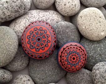 Painted rock, painted stone, decorative rock, birthday present, mandala rock, hand painted rock, hand painted stone, birthday gift, rock art