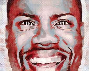 Kevin Hart Art Print - Comedian Oil Painting Poster  LFF0104