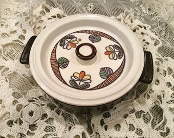 Vintage Flame Chef covered casserole crock