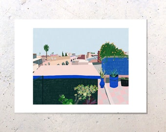 Morocco Rooftops, A3 Print