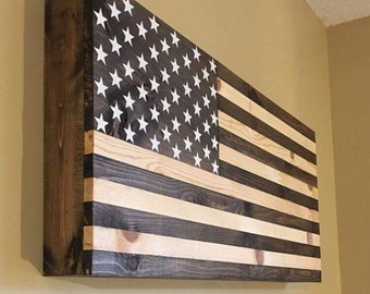 american wooden flag hidden gun cabinet secret compartment gun rack