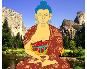 Buddha meditation 32 x 32