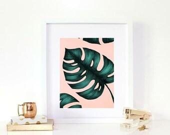 Cheese leaf - peach / print