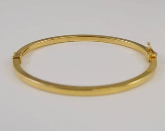 14k Yellow Gold Bangle/bracelet 6.5'' Around(01107)