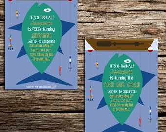 Big One Fishing Birthday Party Invitation
