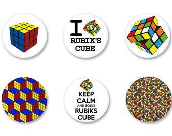 Batch Badge Button Pinback pine o25mm - o38mm / o38mm Rubik's Cube puzzle Rubik's Cube Magnet