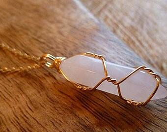 Zentense™  Rose Quartz Crystal Wrap