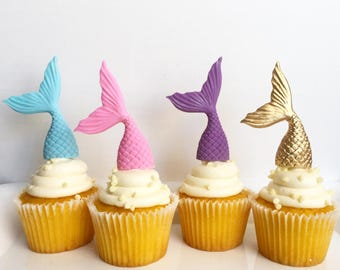 Mermaid tails,mermaid themed,under the sea cupcake toppers