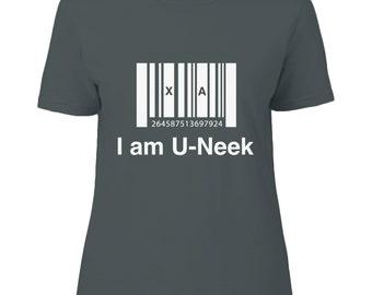 I am u-neek - ladies t-shirts - Inspirational Quote - White - Unique